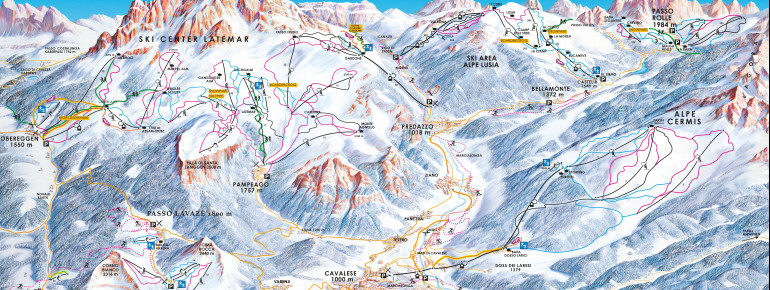 Trail Map Val di Fiemme