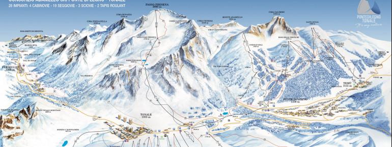 Trail Map Ponte di Legno - Tonale - Temù (Adamello Ski)