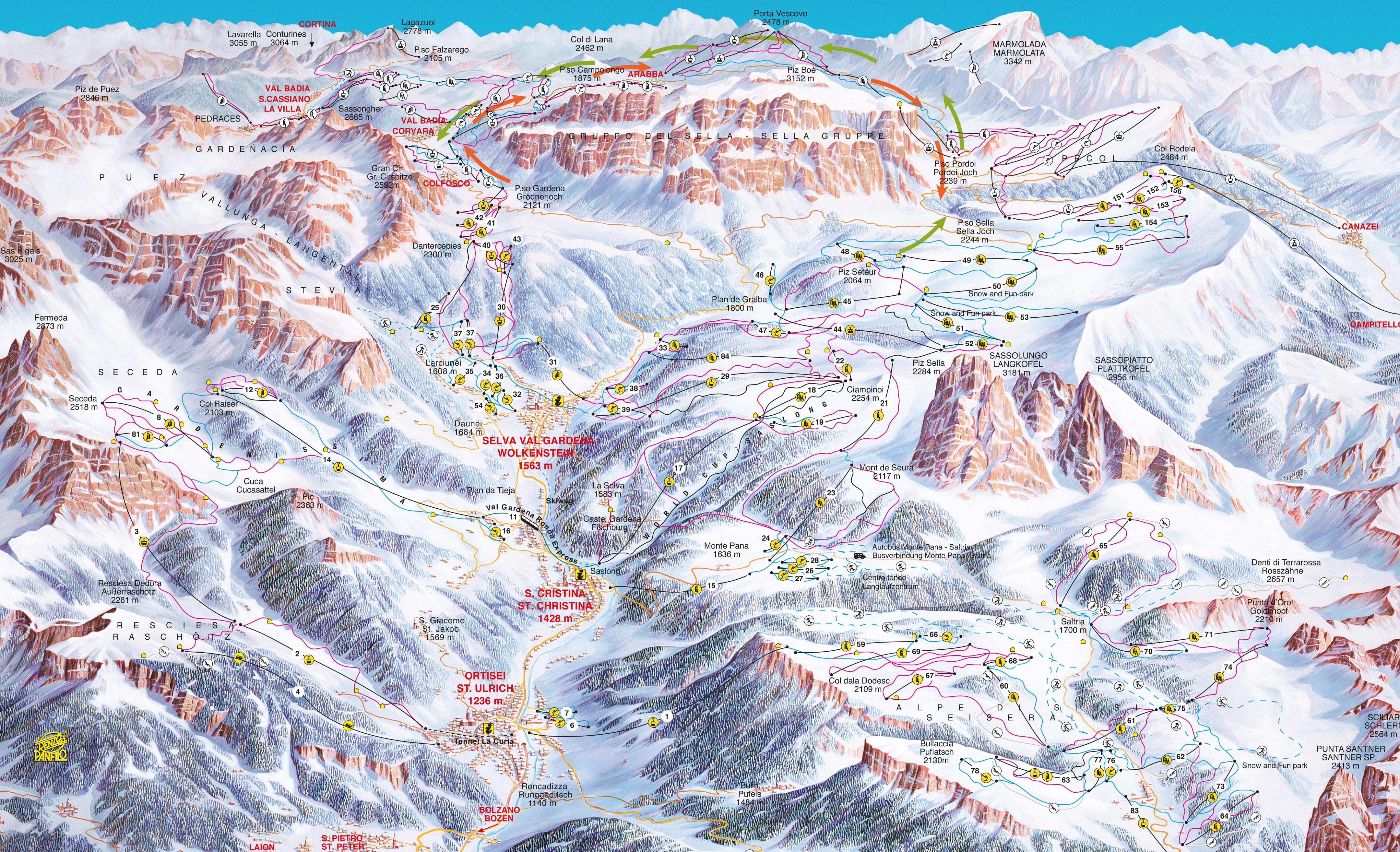 Val Gardena Grden Dolomites Ski Holiday Reviews Skiing