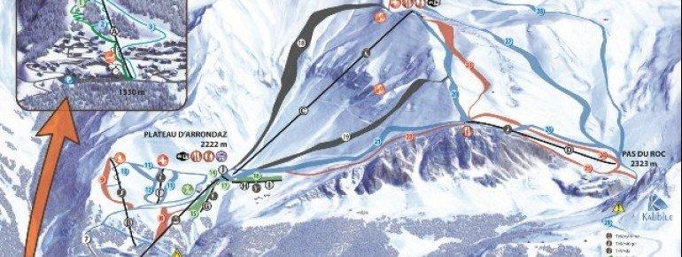 Trail Map Valfrejus