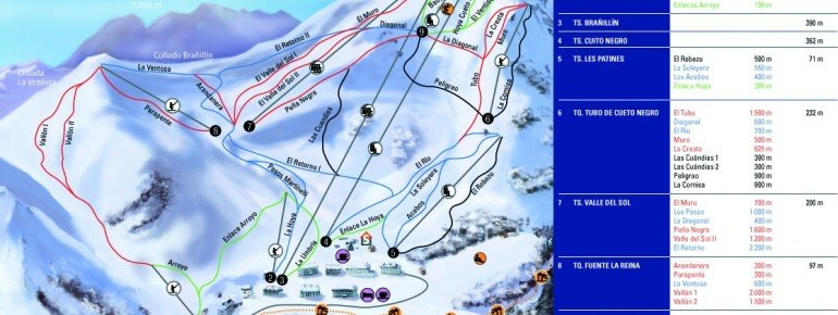 Trail Map Valgrande Pajares