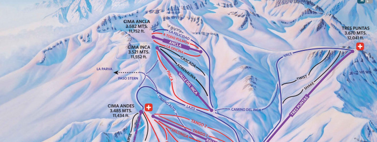 Trail Map Valle Nevado