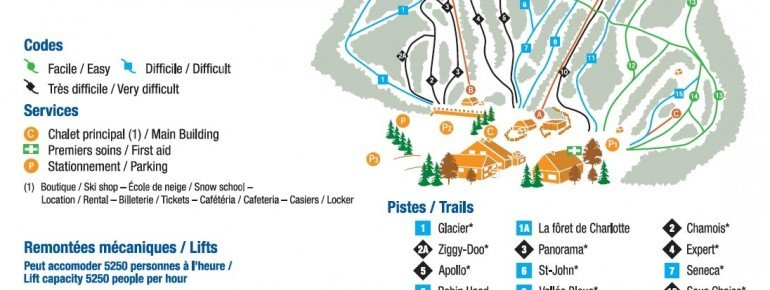 Trail Map Vallee Bleue