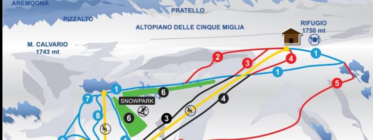 Trail Map Vallefura Pescocostanzo Ski Resort