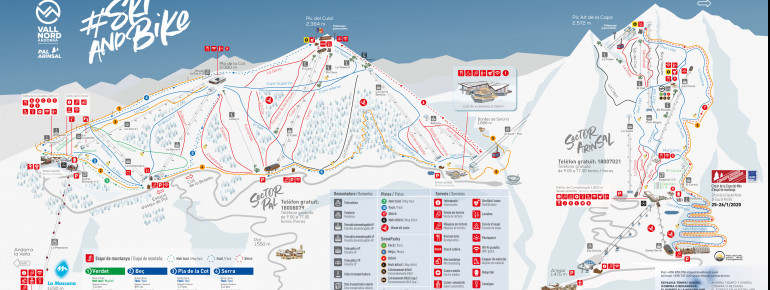 Trail Map Vallnord - Pal Arinsal