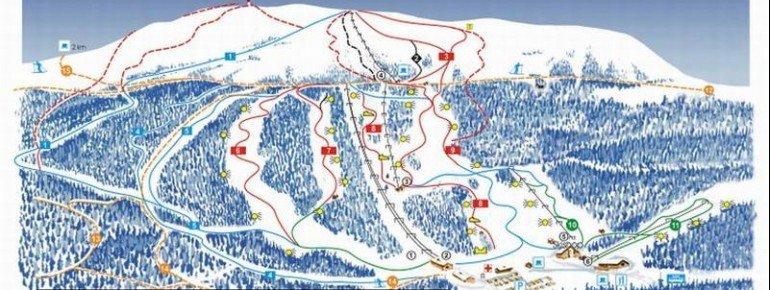 Trail Map Vassfjellet