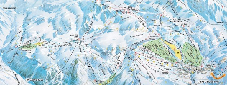 Trail Map Vaujany