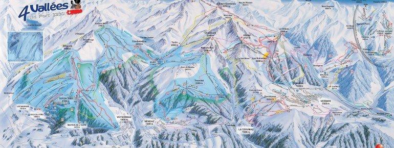 Trail Map Veysonnaz 4 Vallees