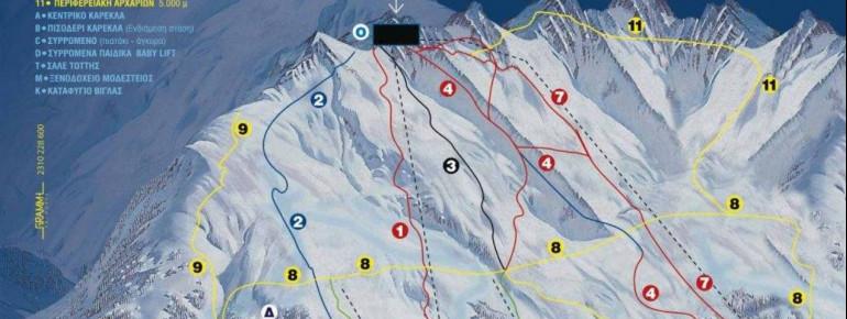 Trail Map Vigla Pisoderi Verno Florina