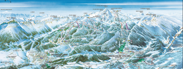Trail Map Villard de Lans