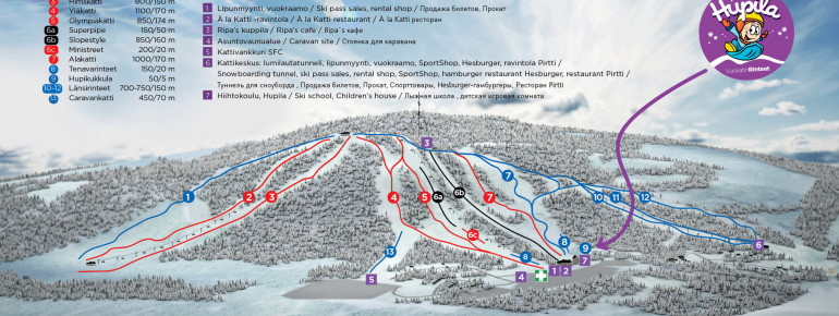 Trail Map Vuokatti