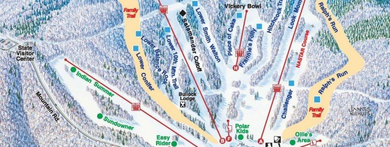 Trail Map Wachusett Mountain