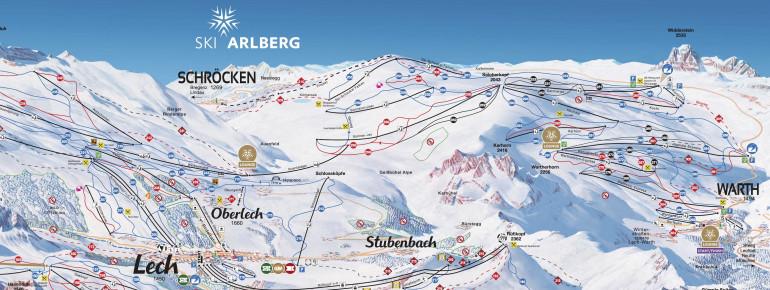 Trail Map Warth Schröcken (Ski Arlberg)
