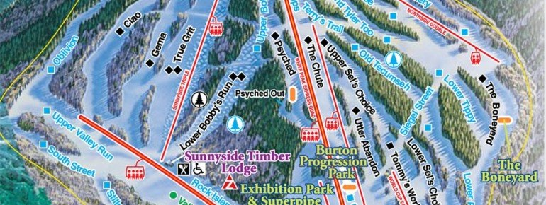Trail Map Waterville Valley Resort