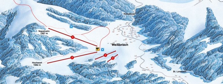 Trail Map Weissbriach Gitschtal
