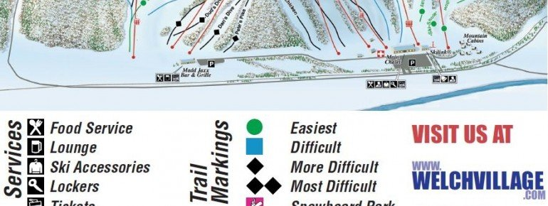 Trail Map Welch Village Ski Area