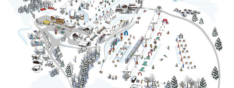 The new snowpark for kids in Werfenweng