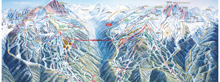 Trail Map Whistler Blackcomb Mountains
