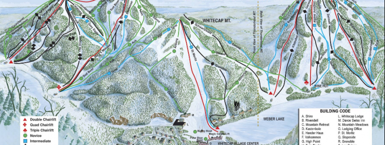 Trail Map Whitecap Mountains