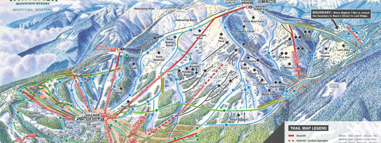Trail Map Whitefish Mountain Resort