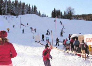 Ski- and toboggan slope in Wildenthal