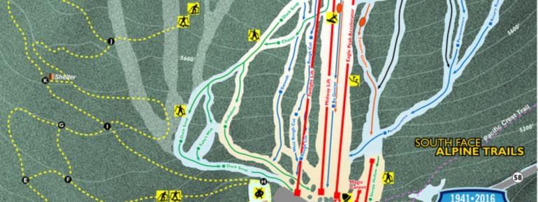 Trail Map Willamette Pass