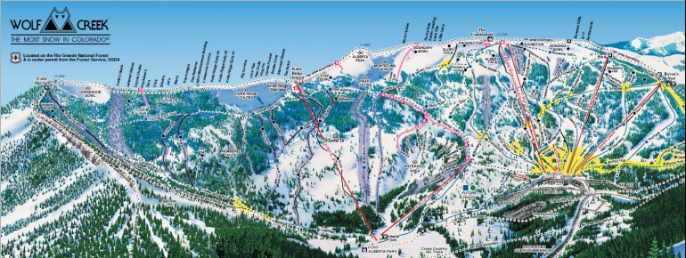 Trail Map Wolf Creek Ski Area