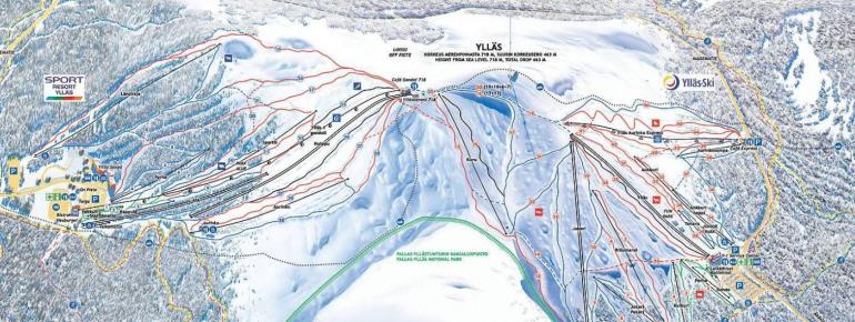 Trail Map Ylläs Ski