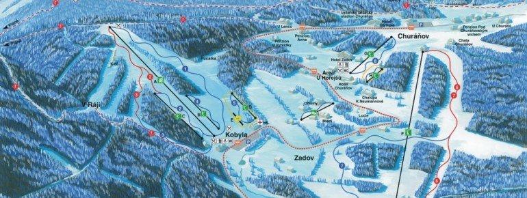 Trail Map Zadov Churanov