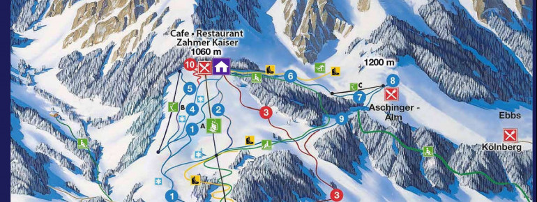 Trail Map Zahmer Kaiser