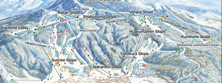 Trail Map Zao Onsen