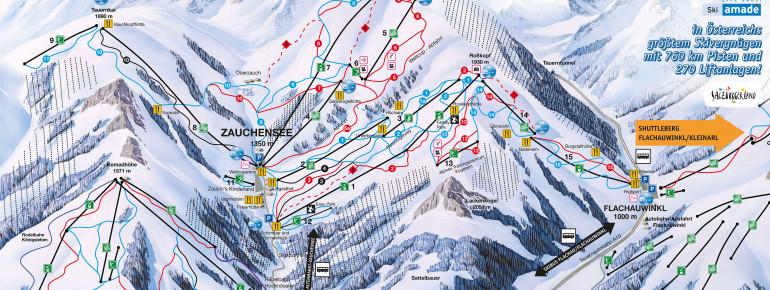 Trail Map Zauchensee