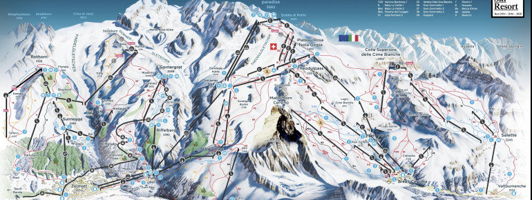Trail Map Zermatt