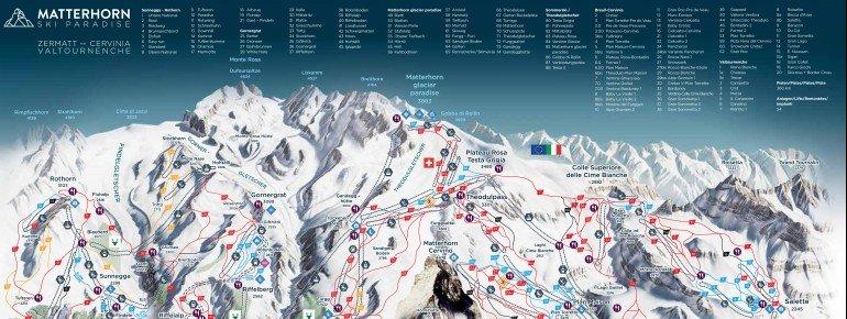 Trail Map Zermatt