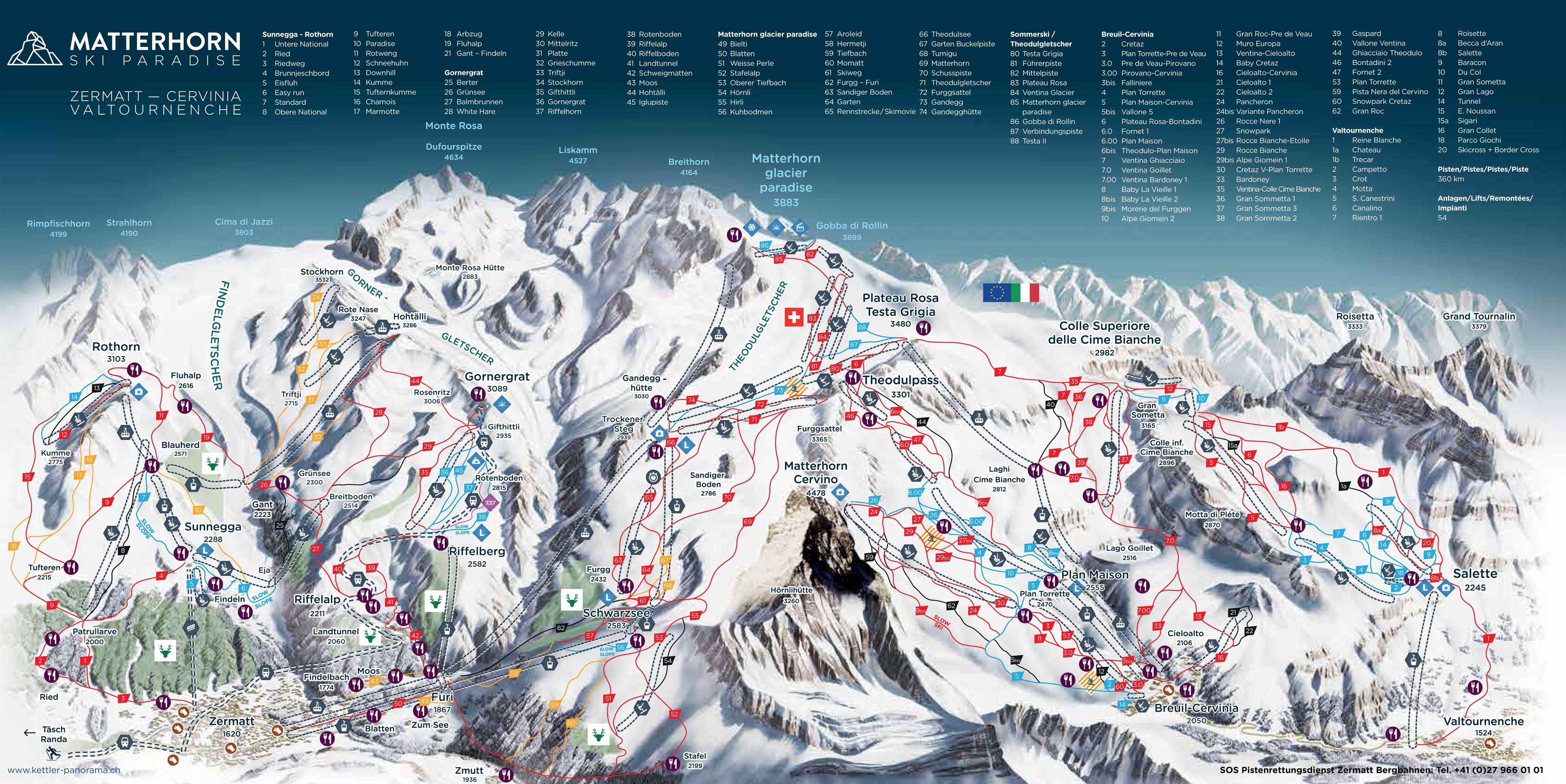 Zermatt ski holiday reviews skiing trail map zermatt solutioingenieria Gallery