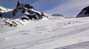 Snowpark Zermatt at Theodul Glacier