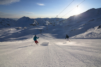 Skiing in the Zillertal Arena