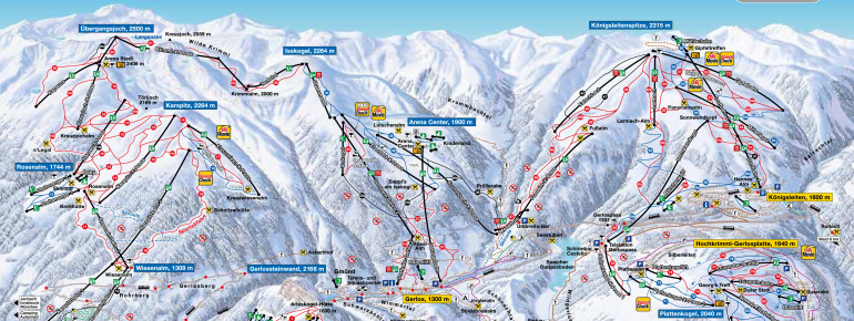 Trail Map Zillertal Arena