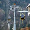 Travel up to the Zwölferhorn in 8-seater gondolas.