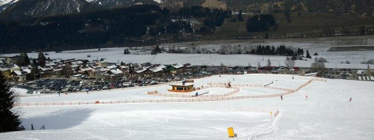 Nicht am Pistenplan eingezeichnet: Das kleine Übungsgelände an der Talstation Hauser Kaibling