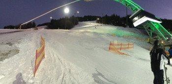 Cool aber für Anfänger zu schwer: Die Talabfahrten zum Wechsel zwischen den einzelnen Skibergen.