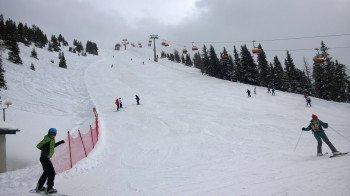 Eine der wenigen schwarzen Abfahrten: Die Panorama-Abfahrt an der Gipfelbahn am Hauser Kaibling.