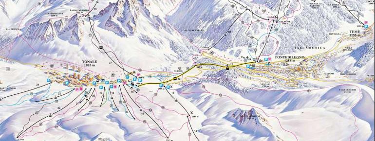 Pistenplan Adamello Ski