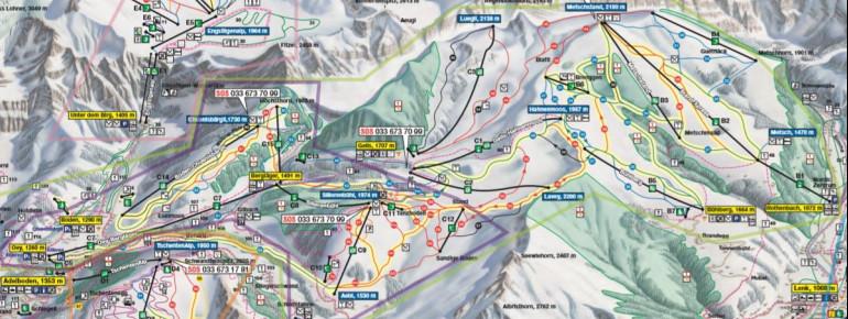 Pistenplan Adelboden - Lenk