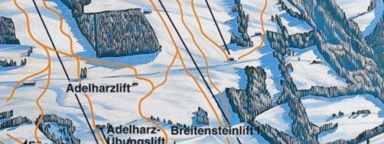 Pistenplan Adelharz und Breitensteinlifte Rettenberg