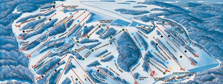 Pistenplan Afton Alps Ski Area