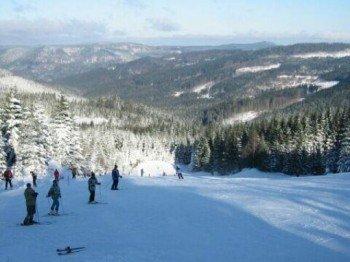 8,6 präparierte Pistenkilometer warten auf Wintersportfreunde im Skigebiet Aichelberglifte in Karlstift (Niederösterreich).