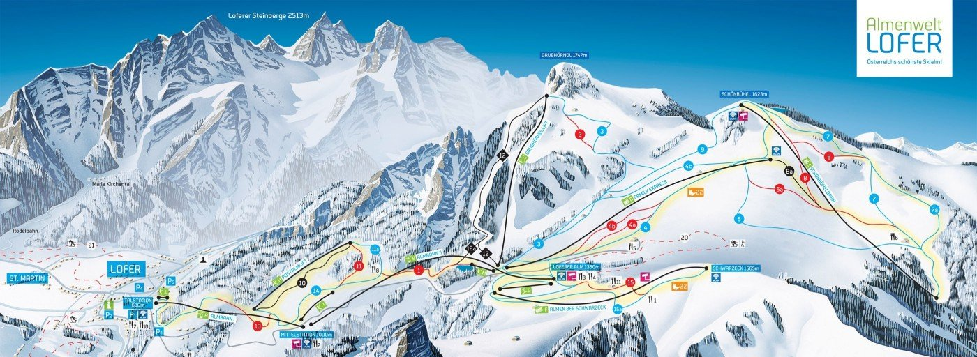 skigebiet almenwelt lofer skiurlaub skifahren testberichte. Black Bedroom Furniture Sets. Home Design Ideas