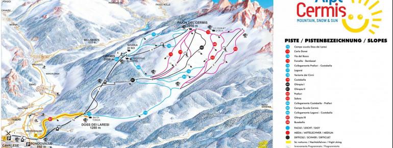 Pistenplan Alpe Cermis
