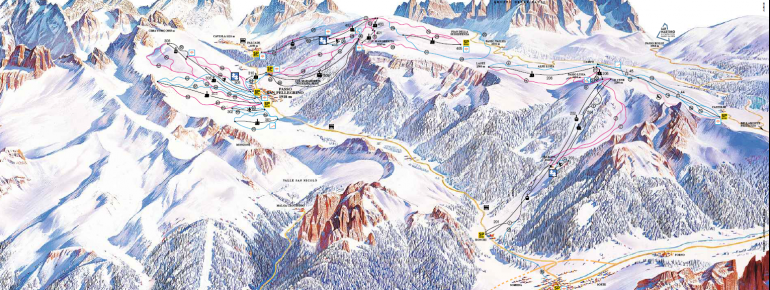 Pistenplan Alpe Lusia/San Pellegrino